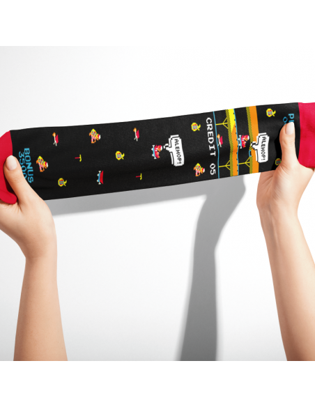 calcetines de dibujos pixel art