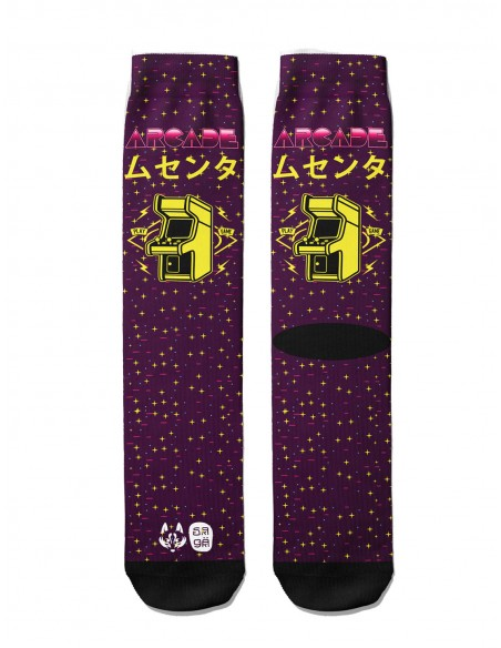 retro pattern socks